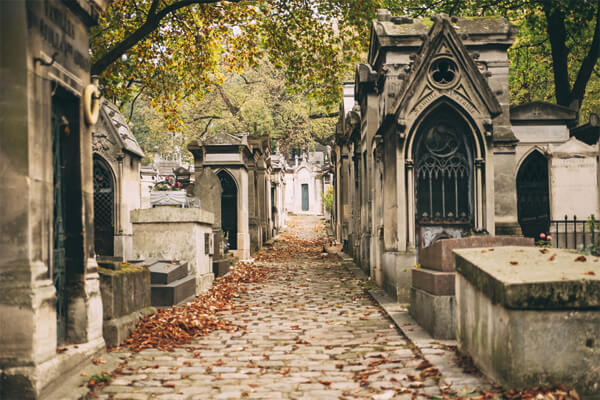 Der Friedhof Père Lachaise in Paris Bild 1